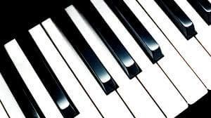 Música relajante instrumental 4 imagen de teclas de piano en diagonal