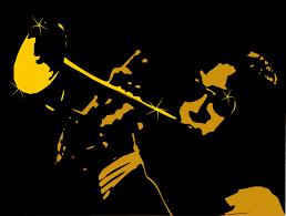 Música relajante jazz 1 imagen de músico tocando trompeta